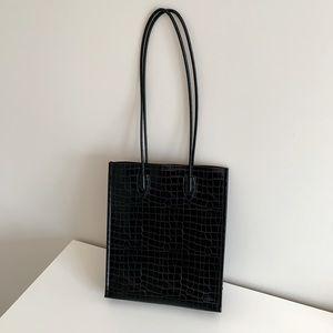 Zara Faux Croc Tote Bag